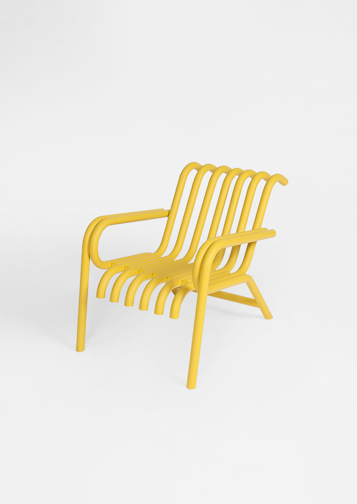 100012. Raft Lounge Chair - Sunset Yellow Matt