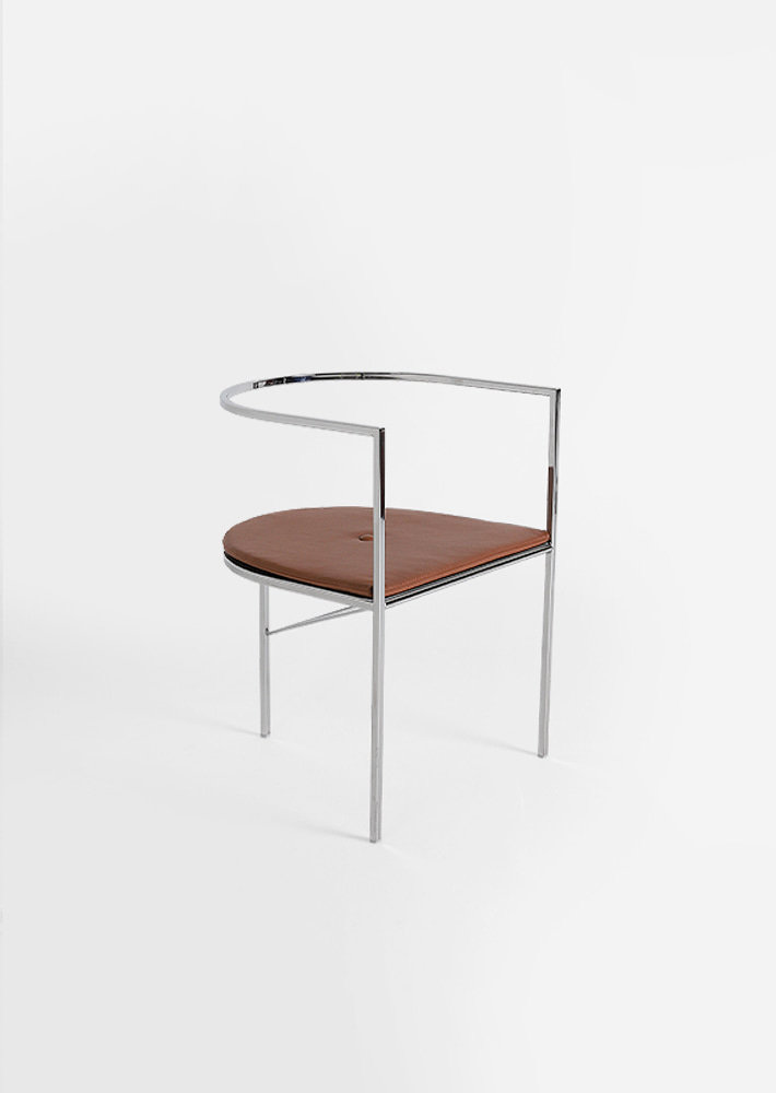 100016. SEBASTIAN DINING CHAIR - BROWN