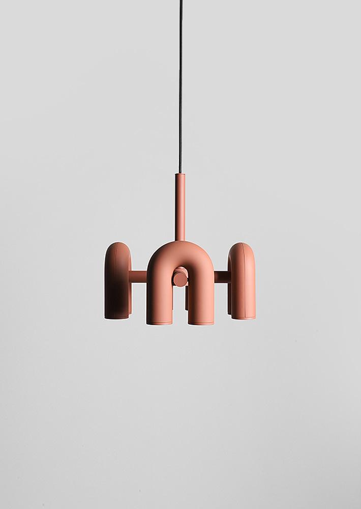 100062.Cirkus Chandelier Small Terracotta