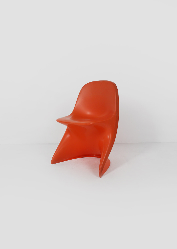 100074. Alexander Begge Child Chair by Casalino (orange)