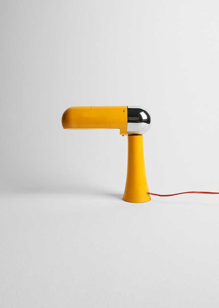 100059. Yellow desk lamp / 60s 70s