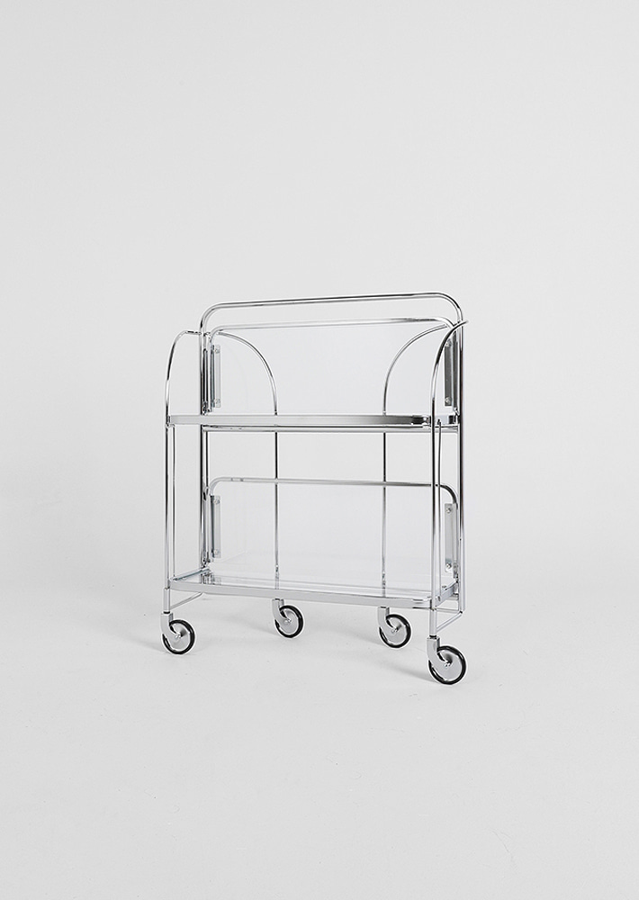 100075. mid-century modern folding trolley_transparency